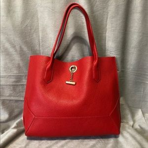 Botkier Waverly Tote in red with chain detailing